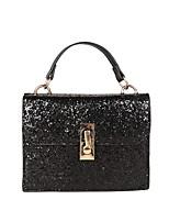 cheap -Women's Bags PU Shoulder Bag Zipper for Casual All Seasons Gold Black Silver Rainbow