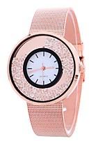 abordables -Mujer Cuarzo Reloj de Moda Chino Esfera Grande Aleación Banda Creativo Casual Plata Dorado Oro Rosa