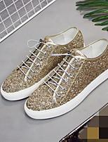 Недорогие -Муж. обувь Дерматин Лето Удобная обувь Кеды для Повседневные Золотой Черный Серебряный Красный