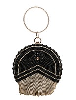 cheap -Women's Bags PU Leather Evening Bag Crystal Detailing Pearl Detailing Tassel for Wedding Event / Party All Seasons Gold Black Silver