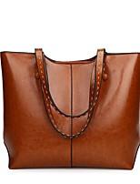 cheap -Women's Bags Leather Shoulder Bag Zipper Black / Blushing Pink / Brown