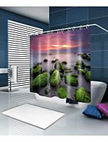 cheap -Shower Curtains & Hooks Contemporary Mediterranean Polyester Contemporary Novelty Machine Made Waterproof Bathroom