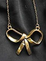 abordables -Femme Pendentif de collier  -  Mode Doux Forme de Noeud Or 45cm Colliers Tendance Pour Quotidien Bureau et carrière