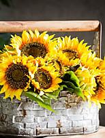 baratos -Flores artificiais 7 Ramo Pastoril Estilo / Europeu Girassóis Flor de Mesa