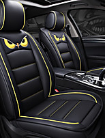 cheap -ODEER Seat Covers Black PU Leather Cartoon for universal All years All Models
