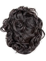 cheap -Men's Human Hair Toupees Wavy Odor Free / 100% Hand Tied / Hot Sale