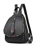 cheap -Women's Bags PU Backpack Zipper for Casual Black
