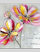 Недорогие -Hang-роспись маслом Ручная роспись - Цветочные мотивы/ботанический Modern