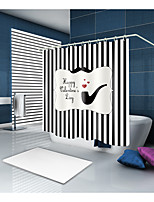 cheap -Shower Curtains & Hooks Contemporary Modern Polyester Plaid / Checkered Stripe Machine Made Waterproof
