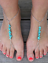 cheap -Turquoise Barefoot Sandals - Vintage Silver For Daily / Holiday