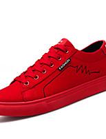 abordables -Homme Chaussures Polyuréthane Printemps / Automne Confort Basket Noir / Gris / Rouge