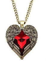 cheap -Crystal Pendant Necklace  -  Wings, Heart Sweet Red 76 cm Necklace For Wedding, Evening Party