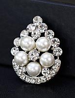 cheap -Women's Rhinestone Pearl Brooches - Fashion / European Geometric Gold / Silver Brooch For Wedding / Daily