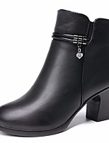 cheap -Women's Shoes PU Fall Winter Combat Boots Boots Chunky Heel Booties / Ankle Boots for Black