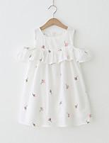 cheap -Girls' Floral Short Sleeves Dress