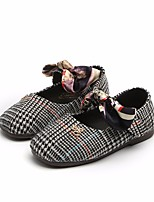 cheap -Girls' Shoes Fabric Spring Fall Flower Girl Shoes Flats for Casual Black Brown