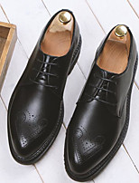 cheap -Men's Shoes Synthetic Microfiber PU Fall Winter Comfort Oxfords for Casual Black