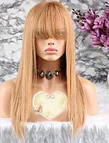 Недорогие -Remy Парик Бразильские волосы Прямой Стрижка каскад 130% плотность С детскими волосами Золотистый Короткие Длинные Средняя длина Жен.