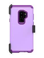 Недорогие -Кейс для Назначение SSamsung Galaxy S9 Plus Защита от удара Кейс на заднюю панель Однотонный ТПУ / ПК