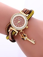 cheap -Women's Quartz Fashion Watch Chinese Imitation Diamond PU Band Casual Owl Black White Blue Red Brown