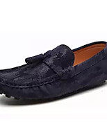 cheap -Men's Shoes Synthetic Microfiber PU Spring Fall Moccasin Loafers & Slip-Ons for Casual Black Gray Blue