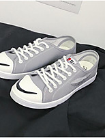 cheap -Men's Shoes Canvas Spring / Fall Comfort Sneakers White / Black / Gray