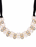 cheap -Women's Collar Necklace  -  Fashion Sweet Blessed White 45cm Necklace For Wedding Evening Party