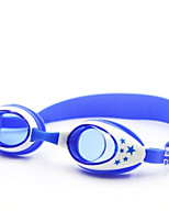 Недорогие -плавательные очки плавательные очки Противо-туманное покрытие Резина Поликарбонат желтый красный синий Светло-золотой желтый розовый