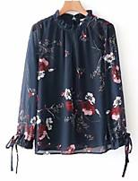 cheap -Women's Basic Blouse-Floral,Bow Print