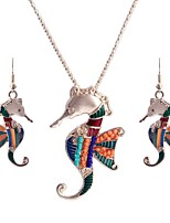 cheap -Women's Colorful Jewelry Set 1 Necklace Earrings - Colorful Ethnic Jewelry Set For Birthday Club
