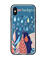 abordables -Funda Para Apple iPhone X iPhone 8 Diseños Funda Trasera Flor Dura Vidrio Templado para iPhone X iPhone 8 Plus iPhone 8 iPhone 7 iPhone