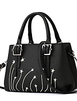 cheap -Women's Bags PU Shoulder Bag Bow(s) / Buttons for Casual Black / Red / Dark Blue
