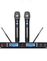 abordables -KAXISAIER NE60 Sans Fil Microphone Kit Microphone Dynamique Tenue Pour Microphone de Karaoké