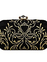 cheap -Women's Bags Terylene Evening Bag Crystals / Embroidery for Event / Party Black
