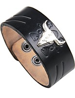cheap -Men's Leather Cool 1pc Leather Bracelet - Vintage Rock Irregular Black Brown Bracelet For Club Street