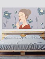 Недорогие -Декоративные наклейки на стены - 3D наклейки Люди стены стикеры 3D Гостиная Спальня Ванная комната Кухня Столовая Кабинет / Офис