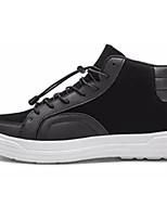 Недорогие -Муж. обувь Полиуретан Весна / Осень Удобная обувь Кеды Белый / Черный