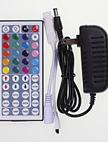cheap -SENCART 1pc 100-240V LED indicator Remote Controlled UK with DC Connector RF Wireless 44keys Smart Home EU US Strip Light Accessory RGB
