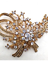 cheap -Women's Leaf Brooches - Metallic Golden Brooch For Party