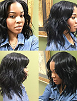 cheap -Remy Human Hair Wig Brazilian Hair Wavy Bob Haircut 130% Density With Baby Hair With Bleached Knots Unprocessed African American Wig