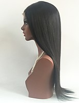 cheap -Unprocessed Wig Brazilian Hair Straight Layered Haircut 130% Density With Baby Hair Natural Hairline Black Short Long Mid Length Women's