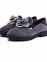 cheap -Girls' Shoes PU Spring Fall Flower Girl Shoes Comfort Loafers & Slip-Ons for Casual Black Red Pink