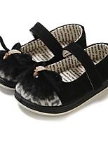 abordables -Fille Chaussures Cuir Printemps Automne Confort Ballerines Noeud pour Décontracté Noir