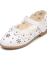 cheap -Girls' Shoes PU Spring Fall Tiny Heels for Teens Flower Girl Shoes Heels for Casual White Pink Light Blue