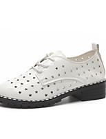 abordables -Femme Chaussures Polyuréthane Printemps Automne Confort Oxfords Talon Bas pour Décontracté Blanc Noir