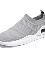 abordables -Homme Chaussures Tulle Printemps / Eté Confort Basket Marche Noir / Rouge clair / Gris clair