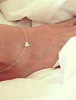 cheap -Bohemian Bikini Heart , Anklet - Women's Gold Silver Bohemian Fashion Bikini Heart Alloy Anklet For Gift Going out