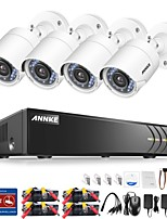 cheap -ANNKE® 8CH 1080P CCTV Security Cameras System with 1TB Hard Drive 4pcs IP Cameras
