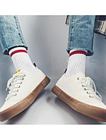 cheap -Men's Shoes Canvas Spring / Fall Comfort Sneakers White / Black