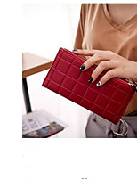 cheap -Women's Bags PU Wallet Buttons for Casual Black / Red / Blushing Pink